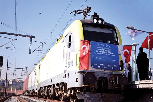 قطار التصدير التركي يصل الصين